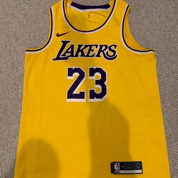 Nike Shirts | Authentic Lebron James Lakers Jersey 23 | Poshmark